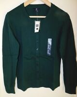 NWT Gap Women's Crew Cardigan Green XS S Free Shipping MSRP $35 NEW