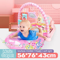 Baby Light Musical Gym Play Mat Lay&Play Fitness Fun Piano Fast  Toys 0-24
