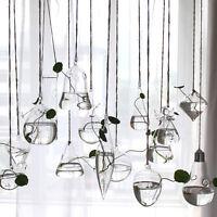 Creative Hanging Glass Flower Planter Vase Terrarium Container Garden Home Decor