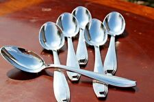 Alfenide Christofle Art Deco Silver Plated Coffee Spoons Set of Six