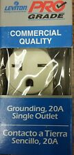 (CJ) Leviton 5821-ISP 2-Pole 3-Wire 20Amp-250V Grounding Outlet (Ivory) Box of 5