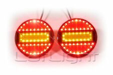 2pcs LED Rear Light Hamburger Marker Stop Turn Light Truck Trailer 12V 24V