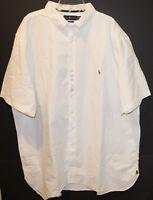 Polo Ralph Lauren Big Tall Mens 3XLT White Button-Front S/S Shirt NWT Size 3XLT
