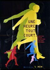 affiche du film UNE HEURE TOUT COURT 120x160 cm