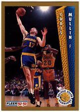 Chris Mullin #77 Dorado Guerreros del Estado Tarjeta de baloncesto Fleer (C508)