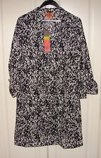 f08dc184ac90 Tory Burch Sz 8 Stephanie Tunic Dress Navy Rose Cliff #12101487