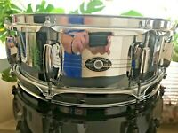 "Slingerland-14"" x 5"" COB/Chrome Over Brass Snare Drum-Late 1970's-Vintage"