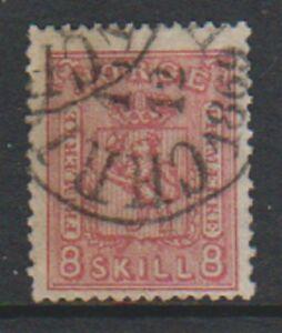 Norvège - 1867,8sk Rose Carmin Tampon - G / U - Sg
