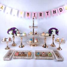 Cake Stand Set Wedding Crystal Decorations Dessert Display Cake Tray