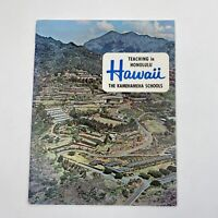 Vintage Booklet Brochure 1965 Teaching In Honolulu Schools Advertising History