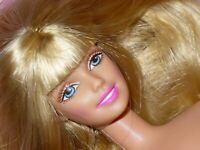Mattel Barbie Doll GOLDEN Blonde Hair BANGS Nude Naked for OOAK or Custom