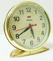 "Digitech 5"" Tall Vintage Wind-up Alarm Clock 1950s Brass Mid Century"