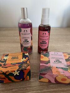 The Body Shop Limited Edition Bundle - Love & Plums, Vanilla Pumpkin, Raspberry