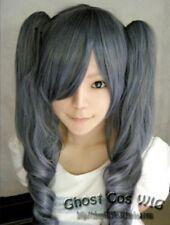 Black Butler Kuroshitsuji Ciel Phantomhive Girl Ver. Blue mix Grey Cosplay Wig I