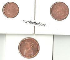 Finland    1+2+5  eurocent    2004  UNC  in stock / op voorraad