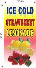 15 X 30 Vinyl Banner Ice Cold Strawberry Lemonade