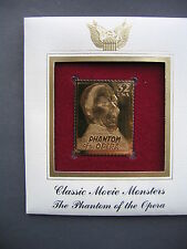 Classic Movie Monsters Phantom of the Opera 22kt Gold GOLDEN Cover replica STAMP