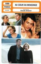 AU COEUR DU MENSONGE  Bonnaire,Gamblin(Fiche Cinéma)1999 At the Heart of the Lie