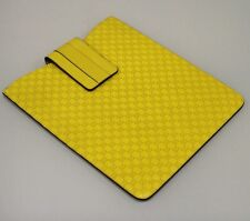 New GUCCI Guccissima Leather iPad Galaxy Tablet document Case Yellow 256575 7308