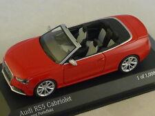MINICHAMPS 410011230 - AUDI RS5 CABRIOLET - 2012 rouge  1/43