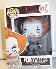 FUNKO POP PENNYWISE FIGURE WITH BOAT FROM IT MINT IN MINT BOX NEW #472