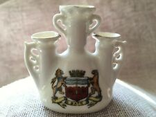Gemma Crested China 3 Funnel Vase/Urn BATH Shield/Coat Of Arms 6.5cm Tall - VGC