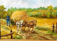 Clary Nelson (Cole), Nigerian artist, vintage oil/board, 8 x 10