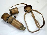 Nautical Vintage Brass Telescope Marine Antique Spyglass Leather Cape Belt Gift