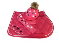 Hot Pink/Navy/White Cross Country Colours Horse Riding Set