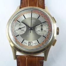 Gigandet 18ct Rotgold Polychromes Zifferblatt Herren Chronograph 1970er Jahre
