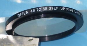 TIFFEN  Aluminum Step Up Ring 48mm - 55mm Filter Adapter Ring, 48  55   z9