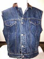Vintage Calvin Klein Jean Vest Men Size Med