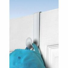 (6 Pack) Over-the-Door Hooks Hangers White Plastic