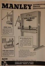 1947 Manley Automotive Service Equipment AD Hydraulic Press