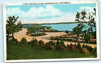 Lake Nokomis Park Minneapolis Minnesota MN Old Cars Vintage Postcard C37