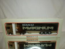 ELIGOR RENAULT MAGNUM 480 CARGO FRIGO - METALLIC BEIGE 1:43 - GOOD IN BOX