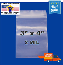 3x 4 Clear Reclosable Zip Seal Bag Plastic 2 Mil Lock Bags Jewelry Zipper