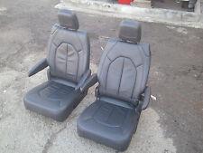 new unused black leather 2  Bucket Seats  Truck Van Bus RV Hotrod Classic Car