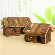 Small Pet Wooden House Exercise Toy for Hamster Hedgehog Mouse Rat Guinea Pig