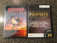 Bundle of 2 Christian Religious DVDs - Prophecy Preach the Word + Jesus - NEW