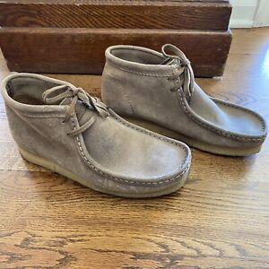 Clarks Originals Wallabee Mens Size 9.5 Maple Beige Suede Shoes 26155515