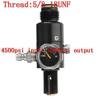 New 5/8-18UNF Thread Valve PCP Regulator 4500psi Air Tank Valve Output 1500psi