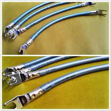 4x PP01Furutech Super Cryogenic Speaker Jumper Cable Bi Wire Rhodium Spade Plug
