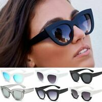New Fashion Oversized Sunglasses Cat Eye Flat UV400 Eyewear Square Women