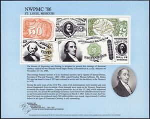 1986 NWPMC St. Louis MO Fractional Currency souvenir card SCCS B-99, NSC32