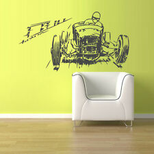 Wall Decal Vinyl Sticker Hot Rod Car Auto Retro Rally Old Muscule (Z1486)