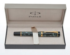 Parker Duofold Centennial MK1 early 1992 Green Marbled fountain pen new in box