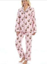 STAR & SKYE  PLUS SIZE COTTON FLANNEL PINK PAJAMAS BROWN FOXES SIZE 1X NWT