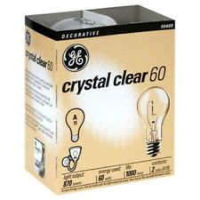 Ge Crystal Clear 60 Watt A19  Standard Light Bulb 97490 (12 Pack Of 24 Bulbs)