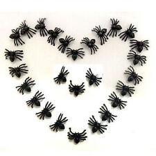 100pcs/Lot Halloween Plastic Black Spider Joking Toys Realistic Prop Decoration